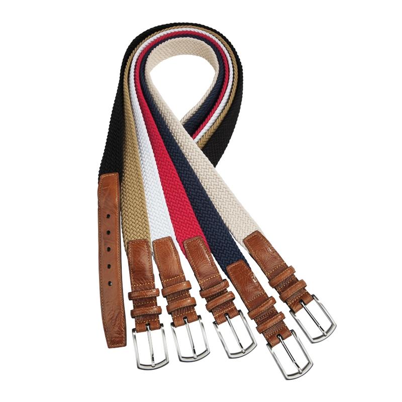 Italian Braided Stretch Cotton Belt