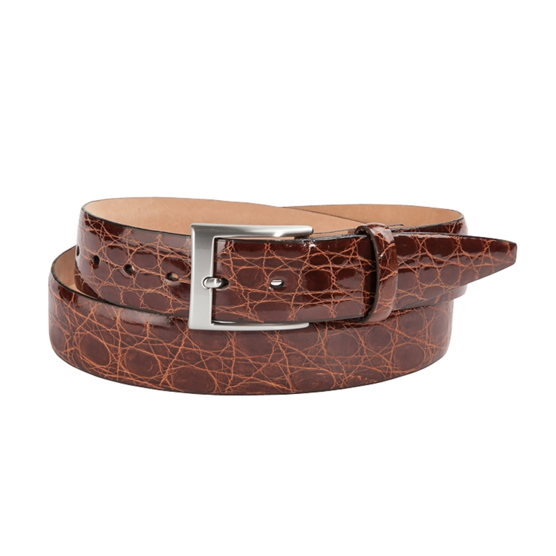 Glazed Crocodile Belt