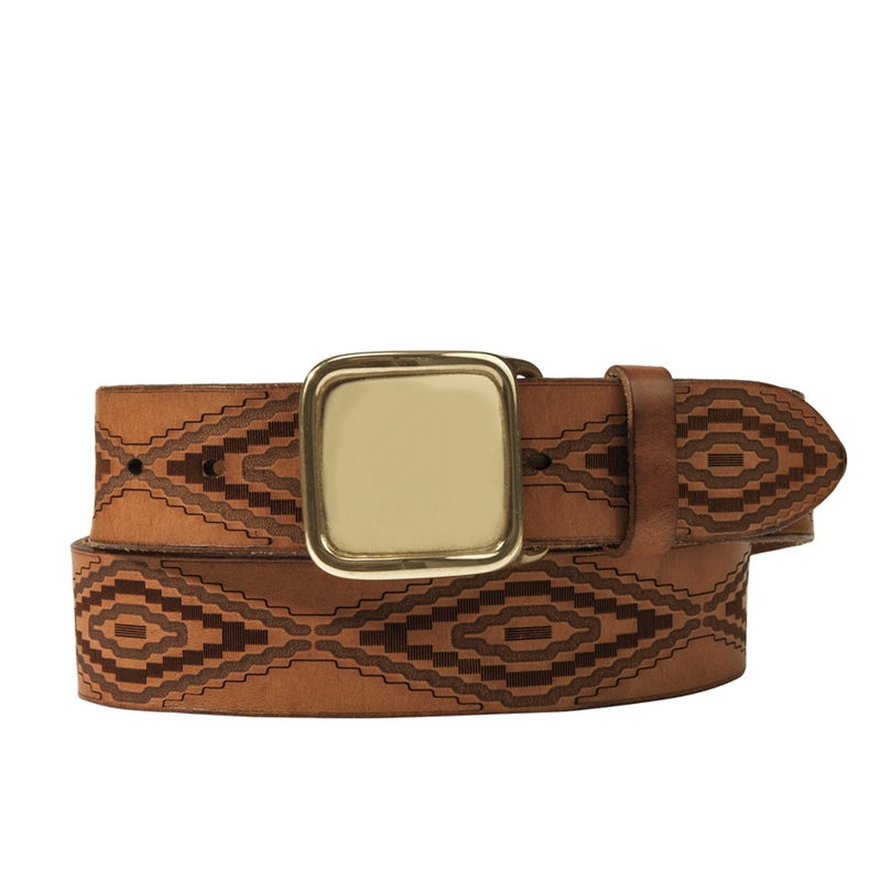Diamond Calfskin Belt