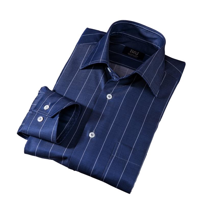 Sartoriale Pinstripe Sport Shirt