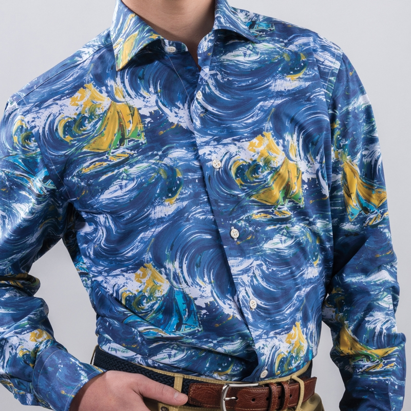 Sartoriale Storm Print Shirt