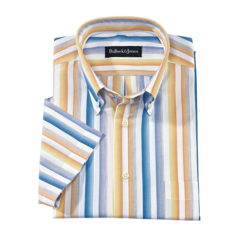 Bayview Stripe Short-Sleeve Button-Down