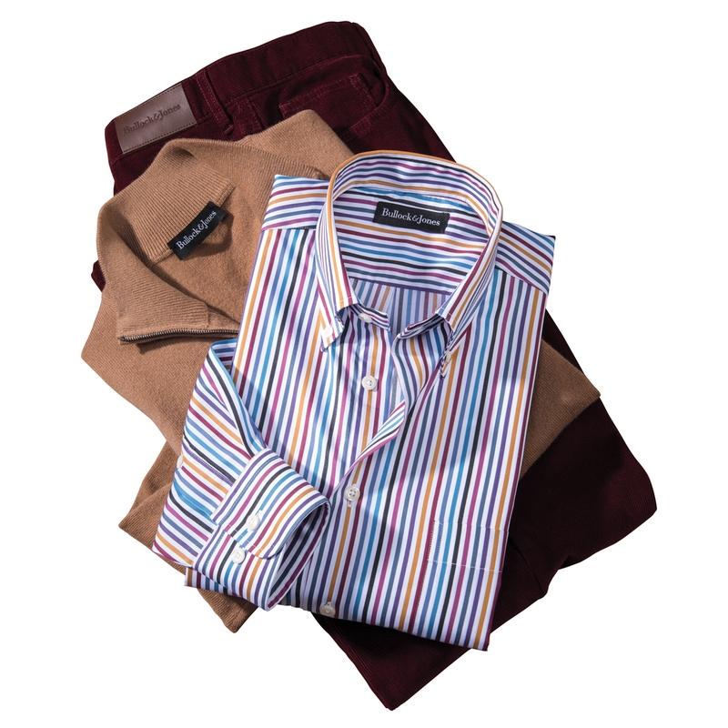 Donovan Multicolor Stripe Button-Down