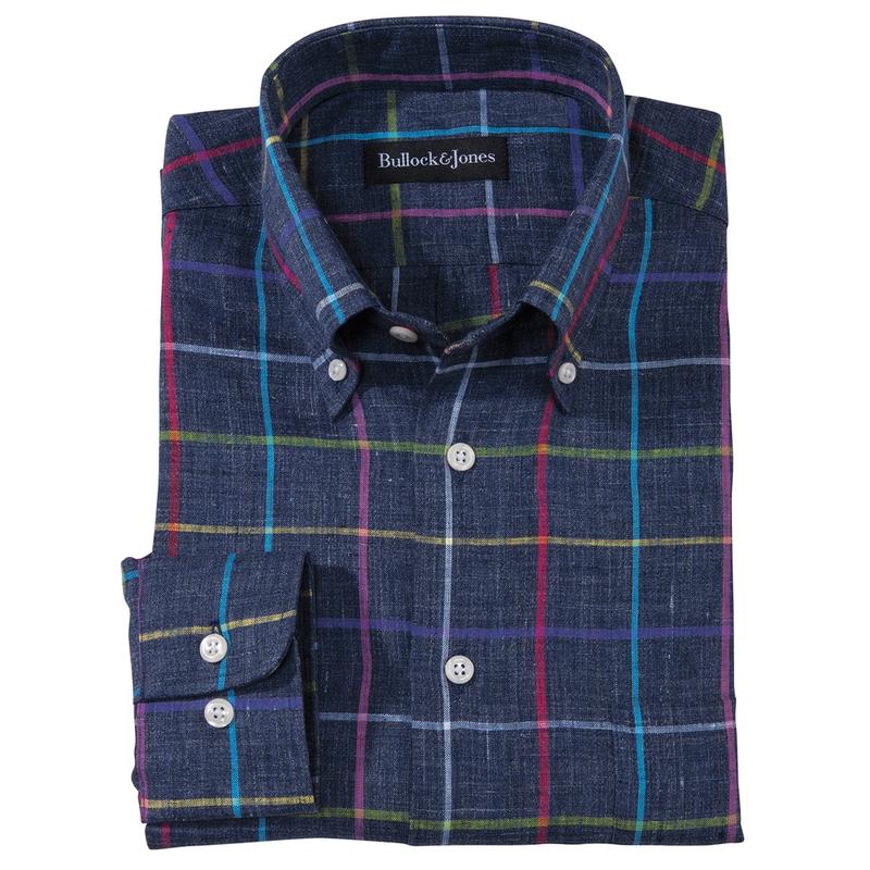 Whitmore Linen Windowpane Check Shirt