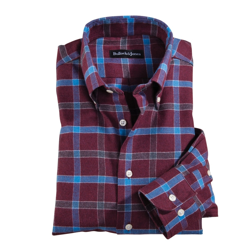 Windowpane Check Flannel Shirt