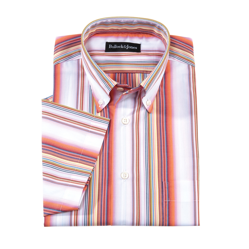 Brisbane Stripe Short-Sleeve Sport Shirt