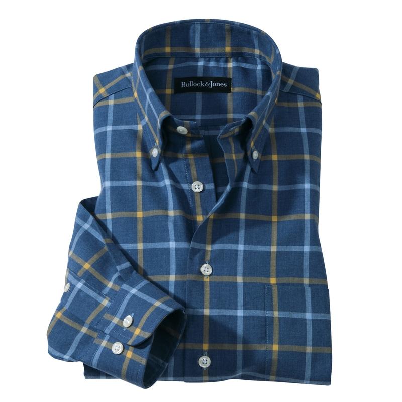 Gene Windowpane Check Sport Shirt