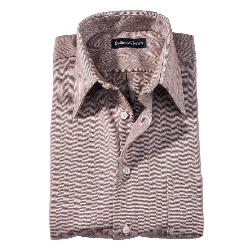 Carmel Herringbone Flannel Sport Shirts