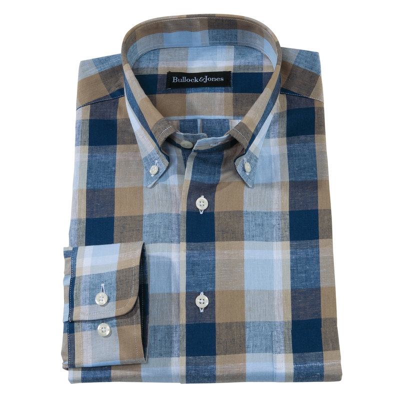 Richmond Block Check Sport Shirt