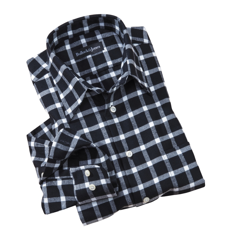 BlackWhite Windowpane Check Shirt