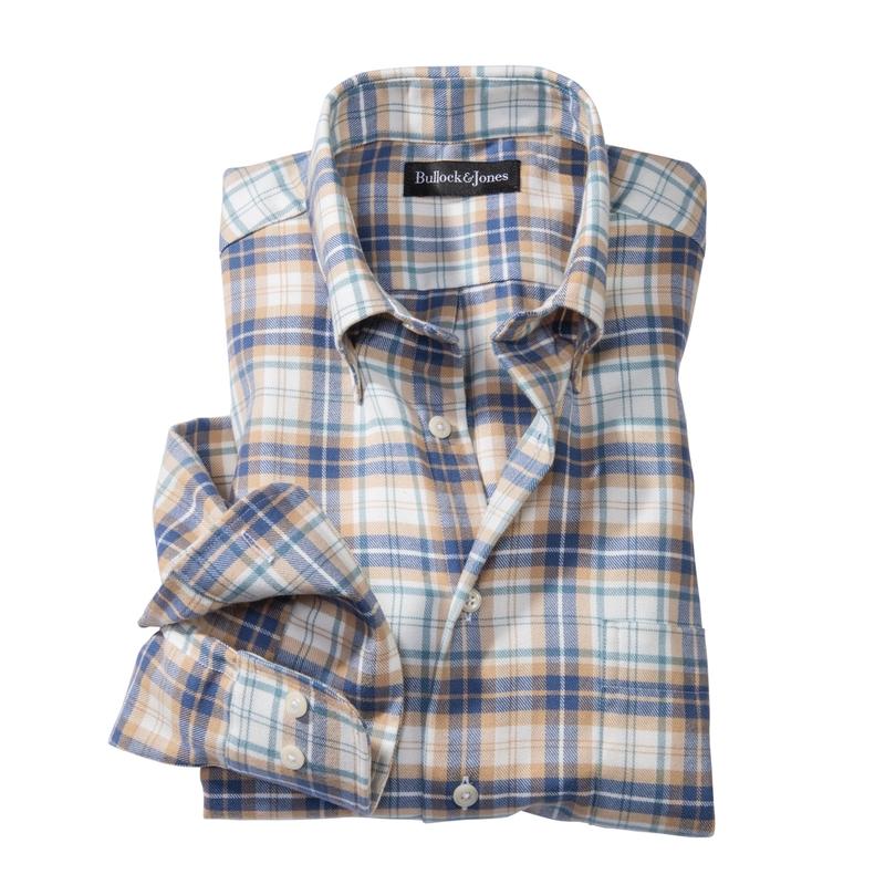 Marin Flannel Plaid Sport Shirt