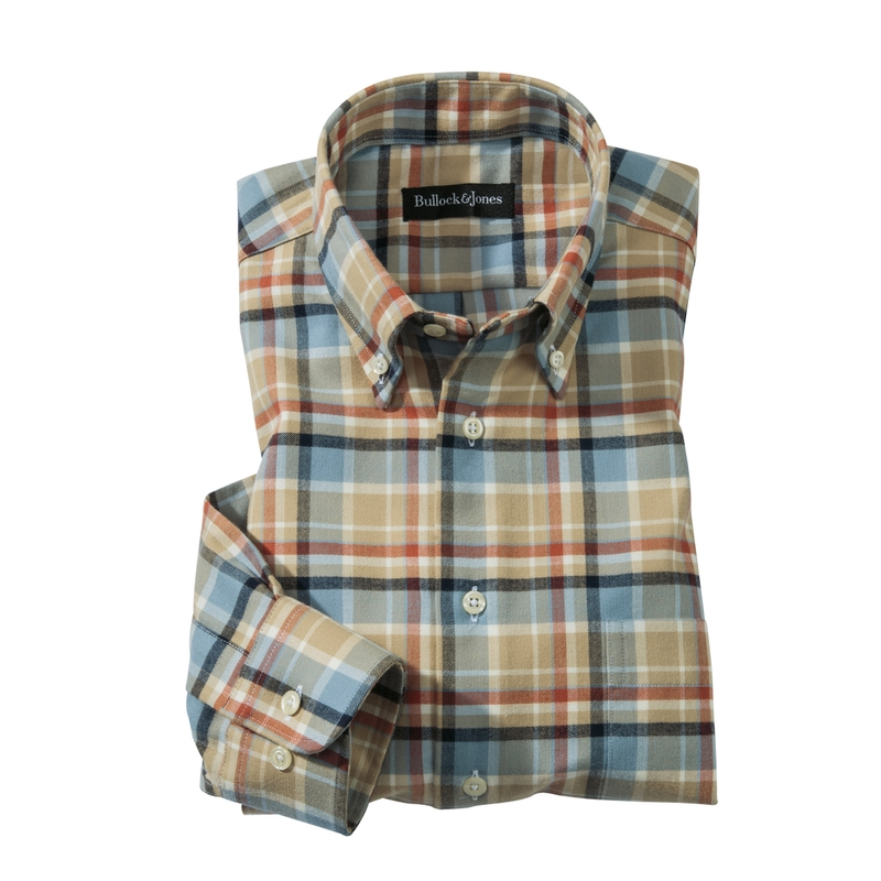 Westport Camel Plaid Sport Shirt