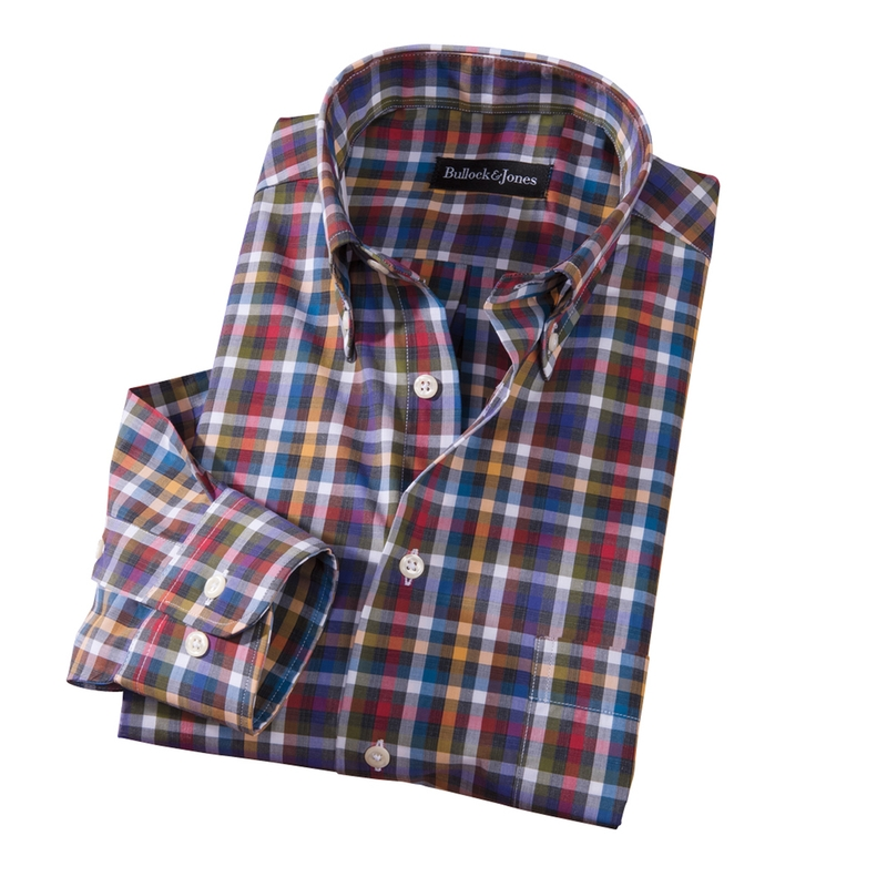 Graham Multicolor Check Sport Shirt