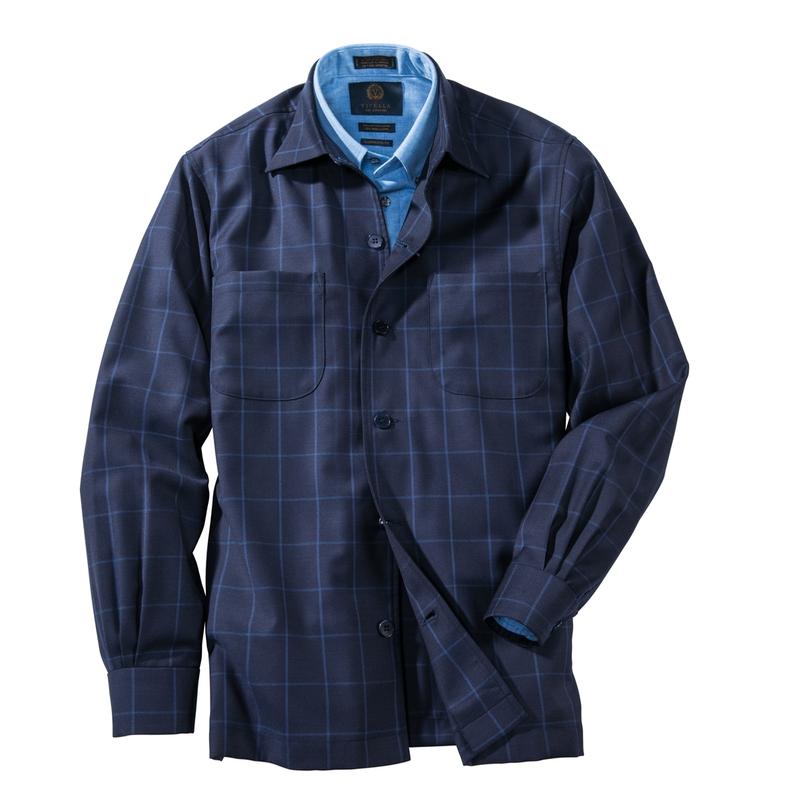 Simon Windowpane Shirt Jacket