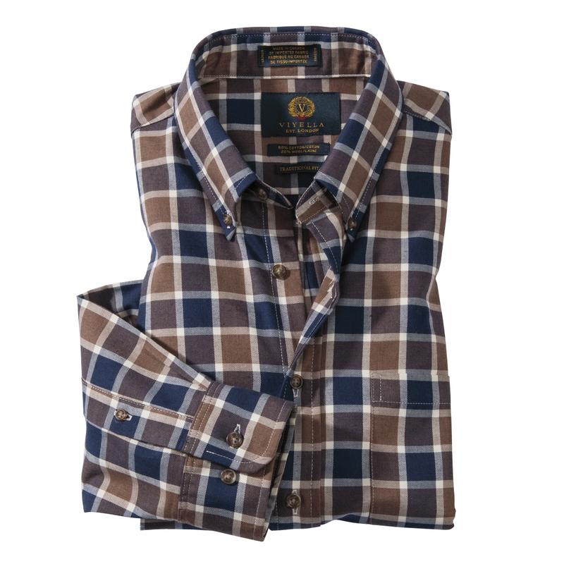 Viyella Windowpane Sport Shirt