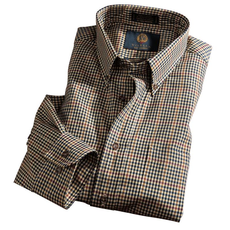 Viyella Cotton & Wool Check Shirt
