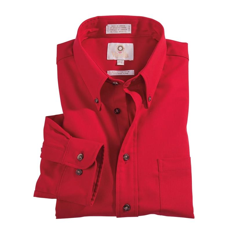 Viyella Solid Cotton Wool Shirt