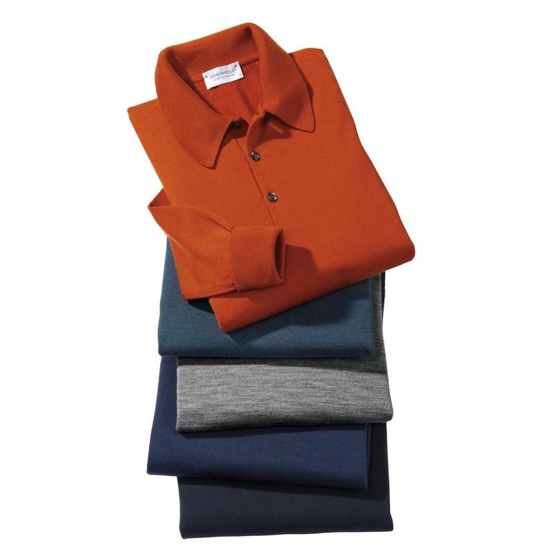 Smedley Merino Wool Long-Sleeve Polos