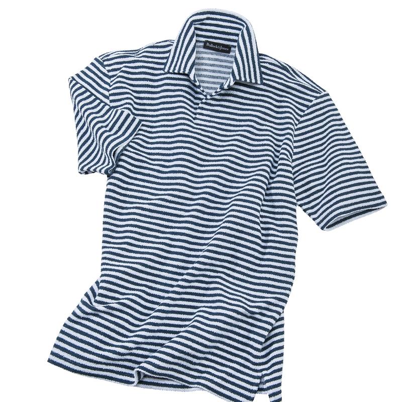 Johnny Collar Stripe Boucle Polo