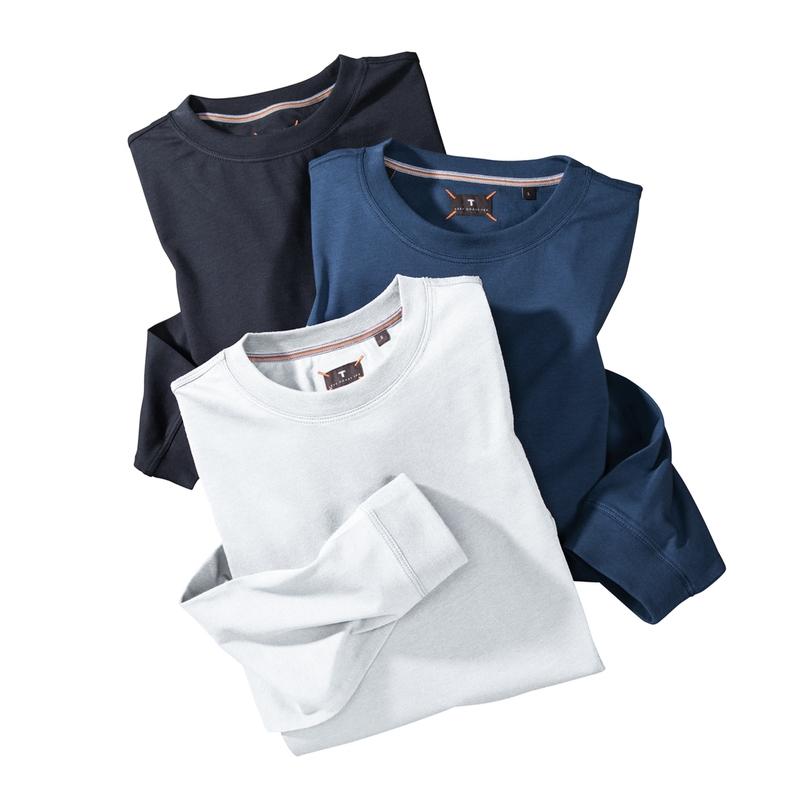 Long -Sleeve Crew Neck Tee-Shirt