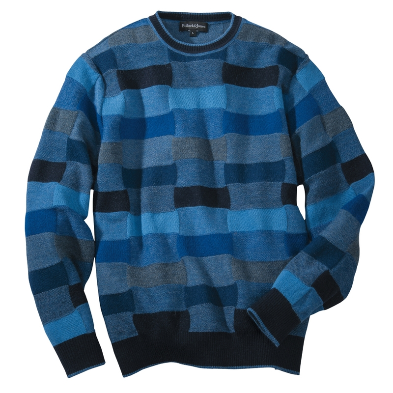 Alpaca Color Tile Crewneck