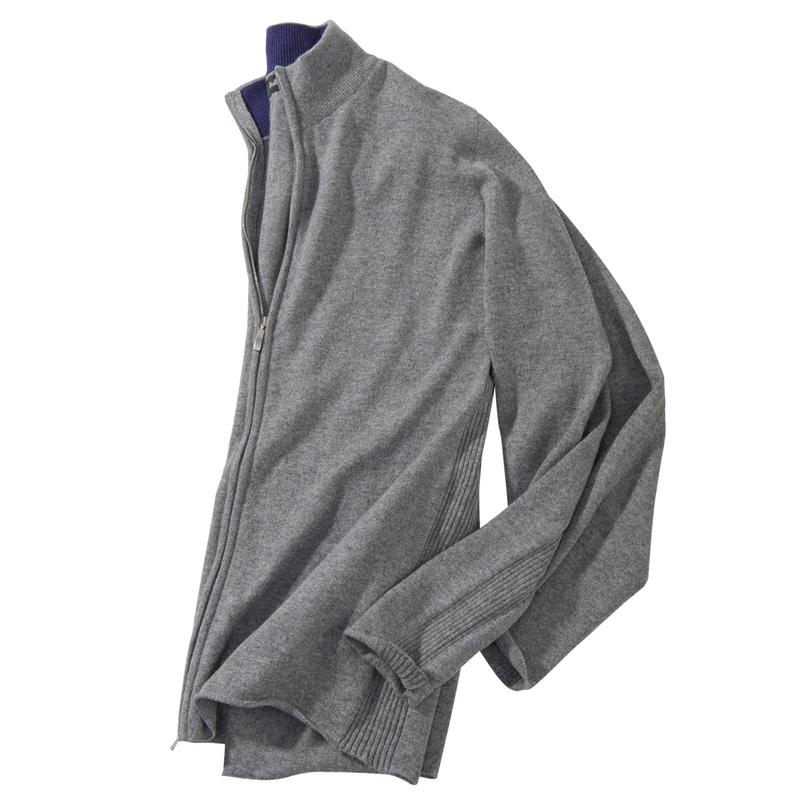 Cashmere Zip Cardigans