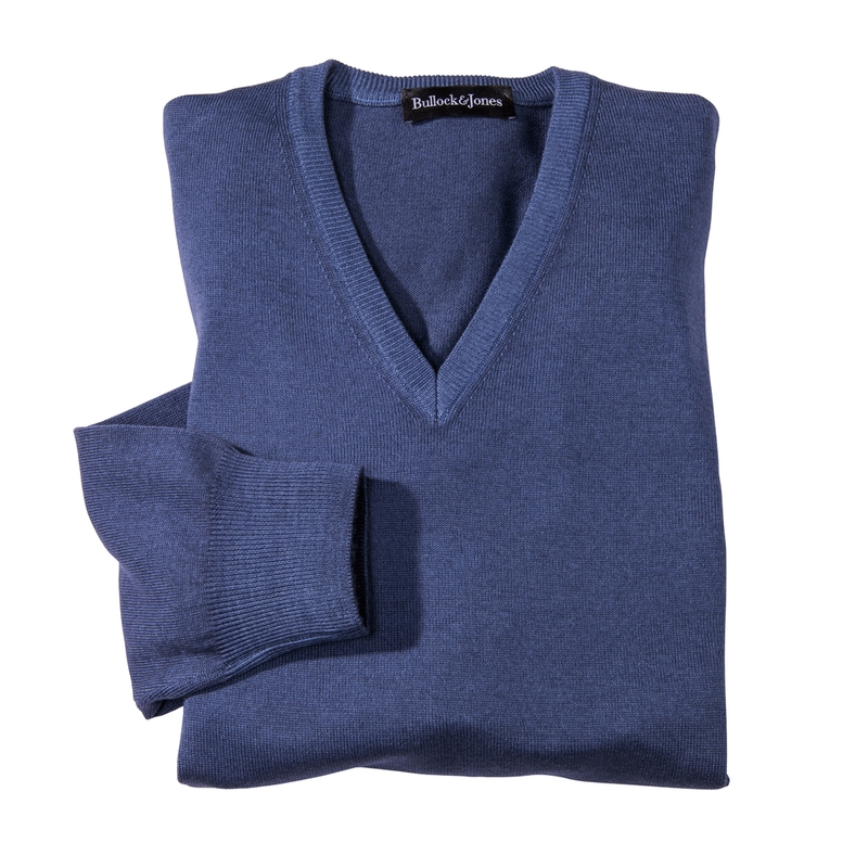 'Fresca' Long-Sleeve V-Neck Merino Wool Pullovers