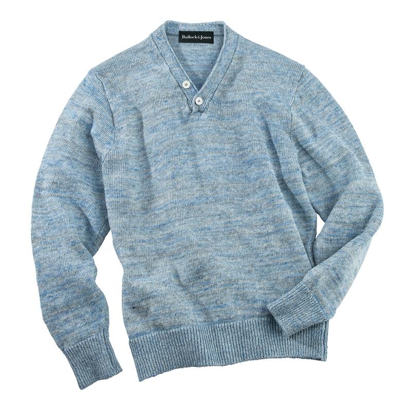 Washed Linen V-Neck Pullover