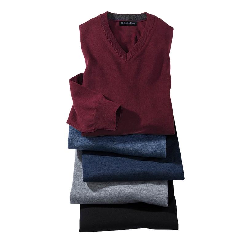 Merino Wool Long-Sleeve V-Neck