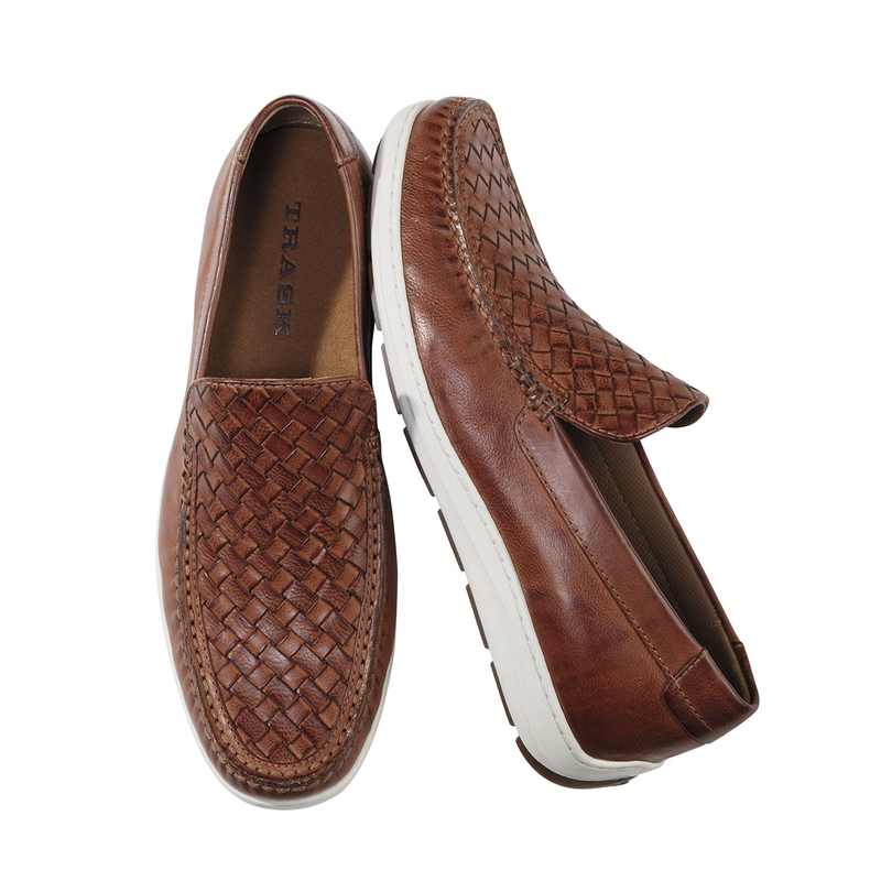 Woven Rubber Sole Moccasin by Trask