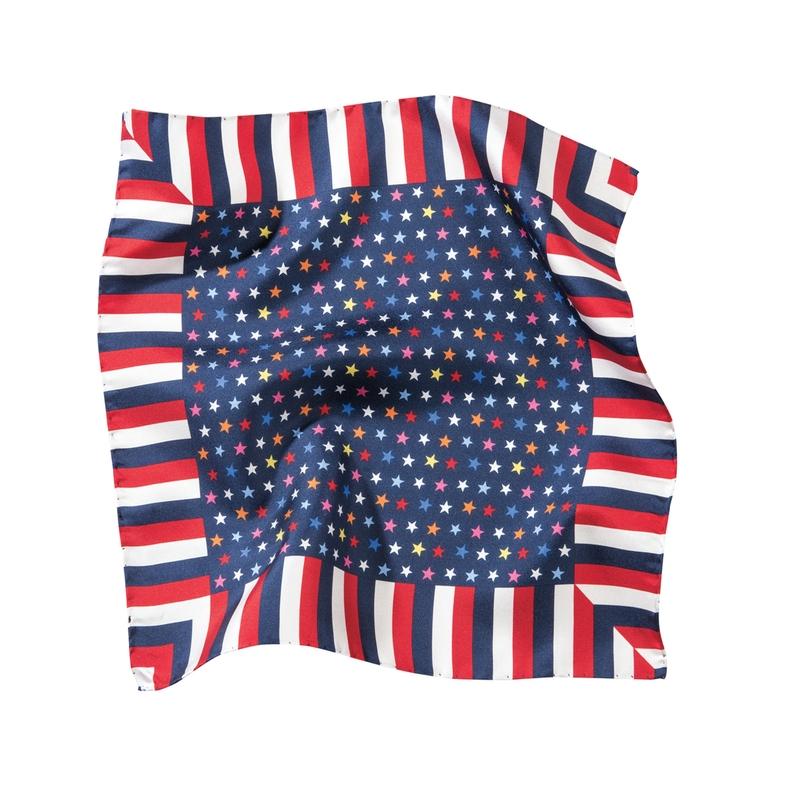 Americana Silk Pocket Square