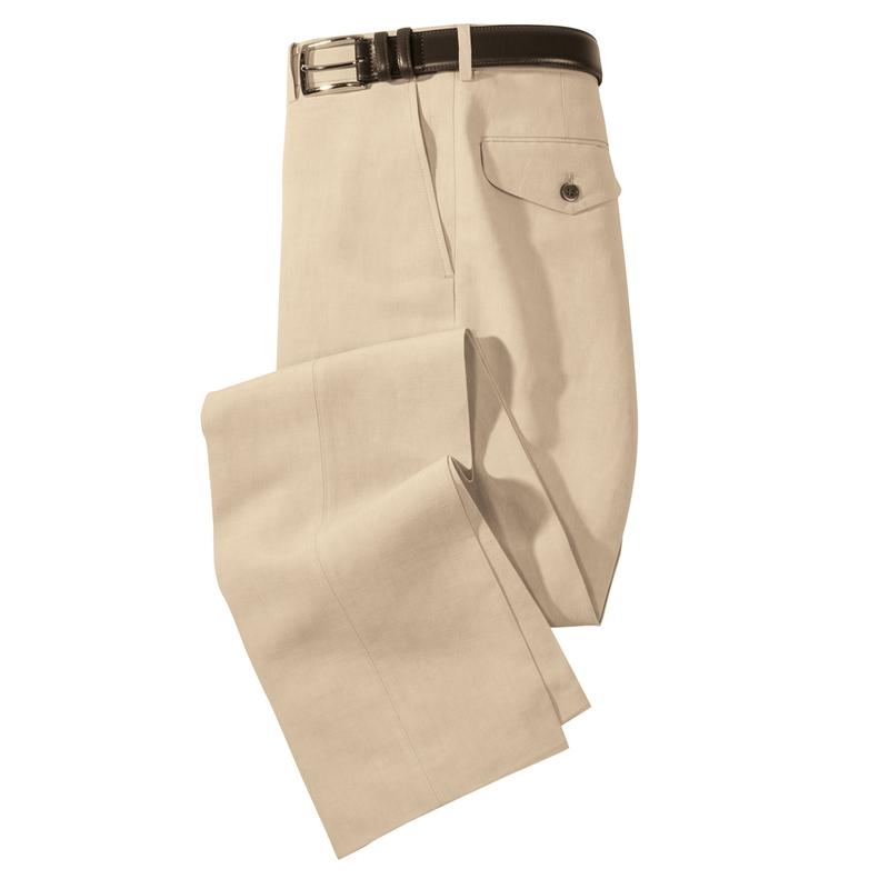 Atherton Silk/Linen Slacks