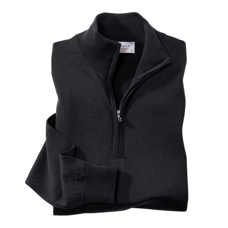 John Smedley Merino Wool Quarter-Zips