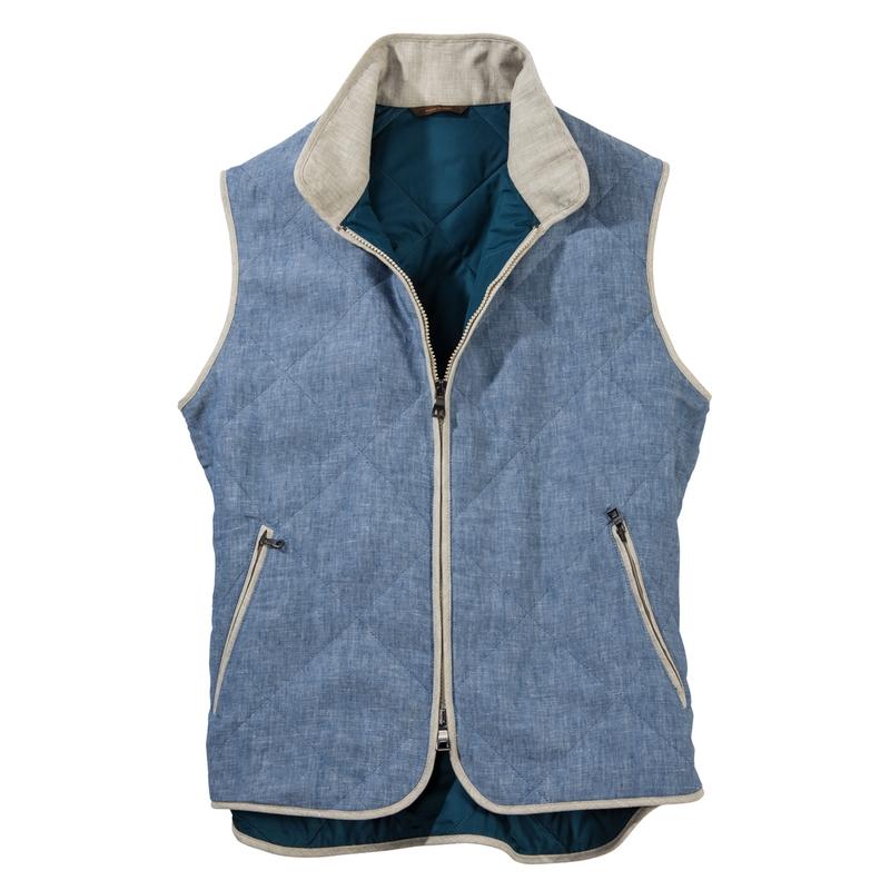 Fiesole Linen Zip Vests