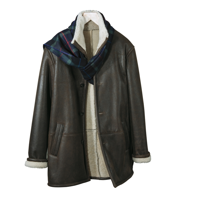 Napa Shearling Three-Quarter Jacket