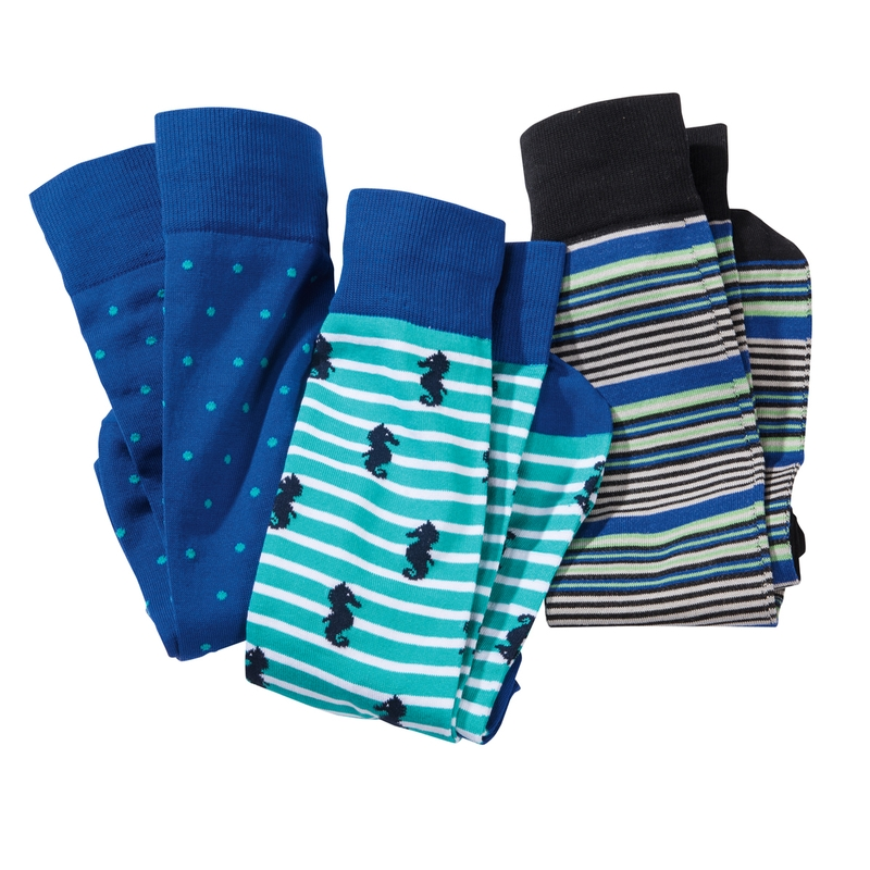 Seahorse Box of 3 Socks