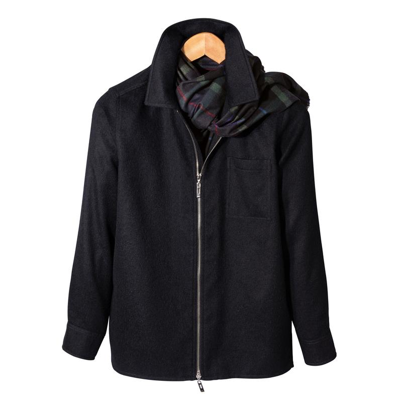 Inverness Zip Alpaca Shirt Jacket