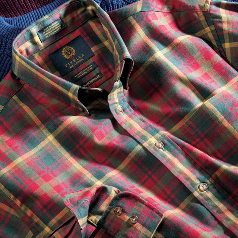 Plaid Viyella Sport Shirt
