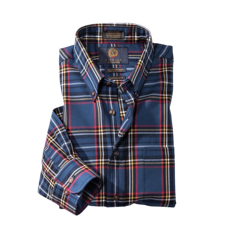 Viyella Sport Shirt Blue Plaid