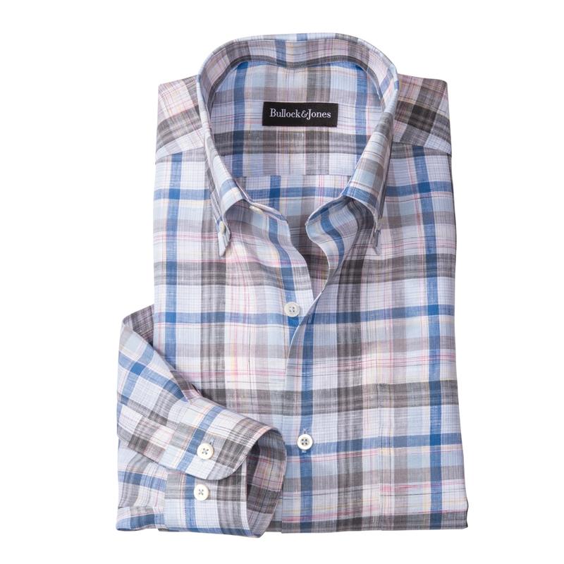 'Linda Mar' Linen Sport Shirt