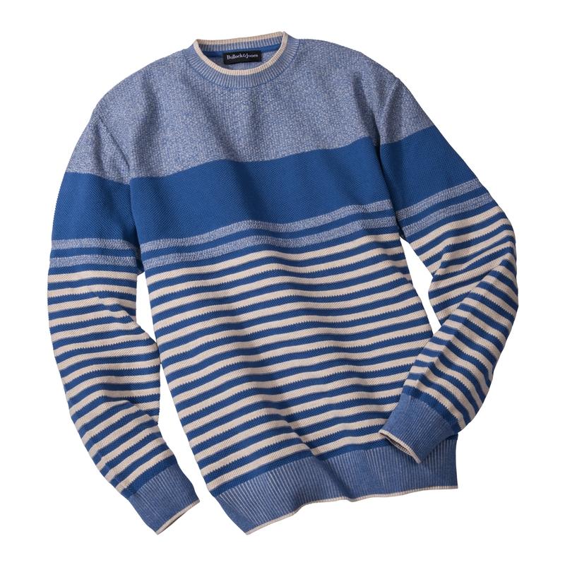 Alameda Stripe Cotton Crewneck