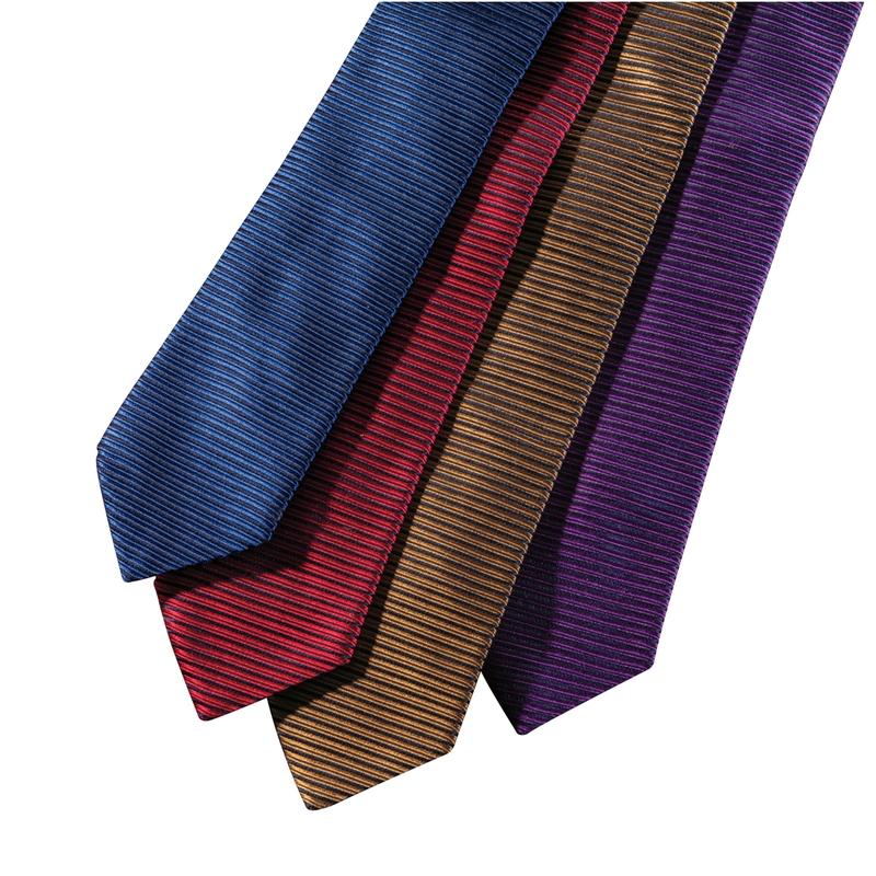 Horizontal Rib Silk Stripe Ties
