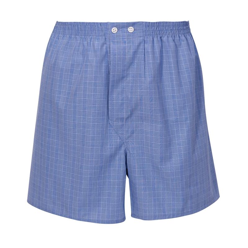 Glen Plaid Boxer Shorts by Derek Rose